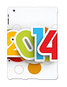 For Ipad 2/3/4 Protective Case, High Quality For Ipad 2/3/4 Happy New Year 2014 Skin Case Cover