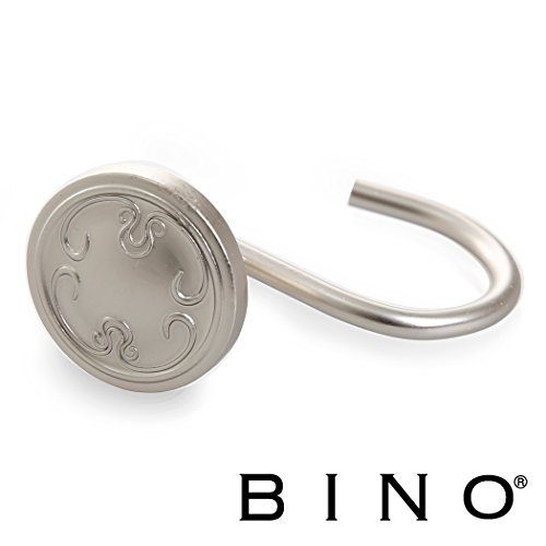 BINO 'Winsor' Shower Curtain Hooks, Nickel, Set of 12