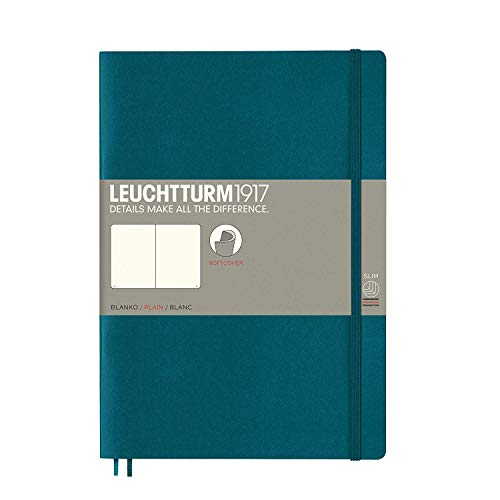 Leuchtturm1917 Softcover B5 Composition Blank Notebook - Pacific Green ()