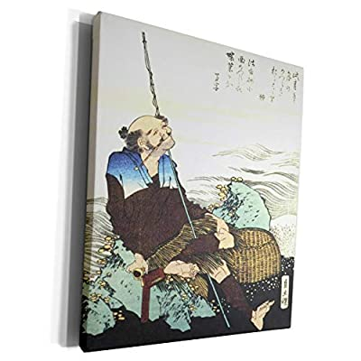 3dRose Florene - Hokusai Japanese Art - Image of Woodcut Japanese Painting Of Fisherman - Museum Grade Canvas Wrap (cw_234287)