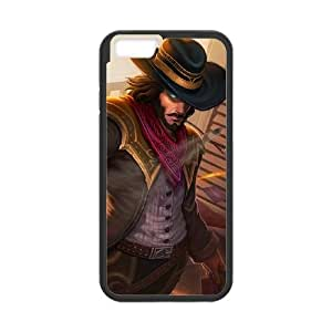 iPhone 6 Plus 5.5 Inch Cell Phone Case Black League of Legends High Noon Twisted Fate UVW0588975