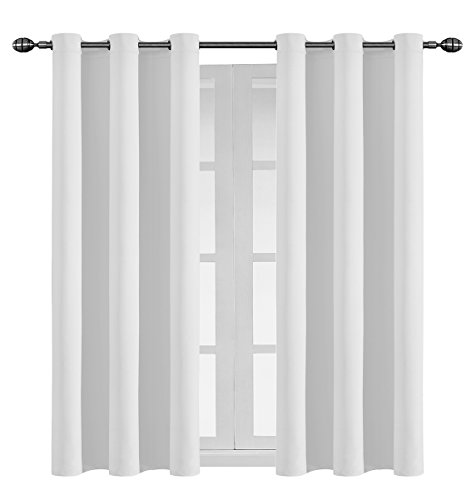 Hang Drapery Panels (Ifblue Solid Thermal Blackout Curtains | Energy-Efficient, Thermally Insulated Drapes with Metal Grommet Rings | 2 Machine Washable Microfiber 42