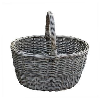 Small Antique Wash Wicker Hollander Basket