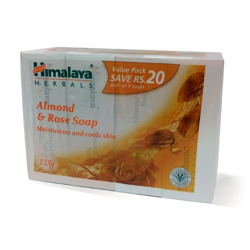 Himalaya Herbals Almond and Rose Soap, 125gm (Pack of 4)