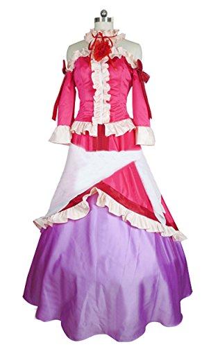 Cosnew Halloween Anime Lucy Heartfilia Pink Dress Costume-Made -