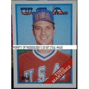 (1988 Topps Traded Tino Martinez Rookie Card #66T baseball Card New York Yankees Sold And Photographed By Thegoodoldboys)