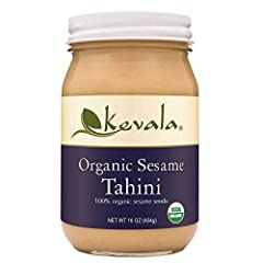 Kevala Organic Tahini is made only with the finest selected sesame seeds. These are roasted and stone ground to obtain a delectable and creamy texture, enjoy! This product has a safety seal over the lid to prevent leaks, it is food grade and ...