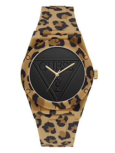 - GUESS Women's Quartz Stainless Steel and Silicone Casual Watch, Color:Brown (Model: U0979L15)