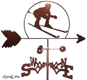 Hecho a mano Down Hill esquiador estaca de jardín forma de gallo ~ nuevo ~