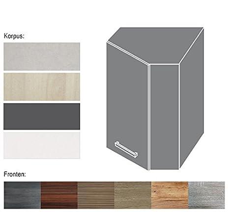 Eck hängeschrank 161252 küchenschrank korpus und frontfarbe wählbar neu si w9 w10 amazon de küche haushalt