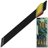 Armory Replicas - Juego de 6 ballestas de Caza con Flecha de Aluminio Extra Supervivencia, Color Negro, 40,6 cm