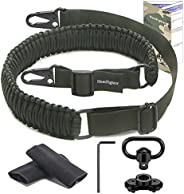 HuntFighter Rifle Sling with Swivel Mount, 2-Point 550 Paracord Gun Sling with Adjustable Length Strap, Quick