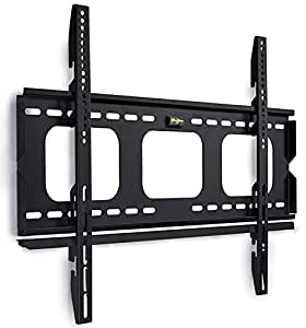 """Mount-It! Low-Profile TV Wall Mount 1"""" Slim Fixed Bracket for 32, 40, 42, 48, 49, 50, 51, 52, 55, 60 inch TVs VESA Compatible up to 600 x 400"""
