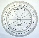 Tarquin Circular Protractors - Pack of 10 Flexible 90mm 360 Degrees Deal (Small Image)