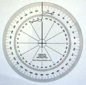 (Tarquin Circular Protractors - Pack of 10 Flexible 90mm 360)
