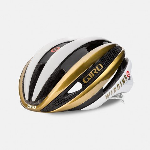 Giro Synthe MIPS Limited Edition Helmet Matte White/Gold Wiggins, M