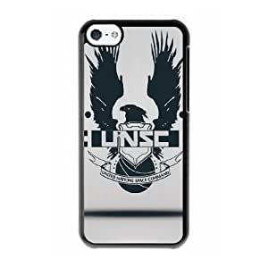 Grouden R Create and Design Phone Case, Halo 4 UNSC Cell Phone Case for iPhone 5C Black + Tempered Glass Screen Protector (Free) LPC-8029705
