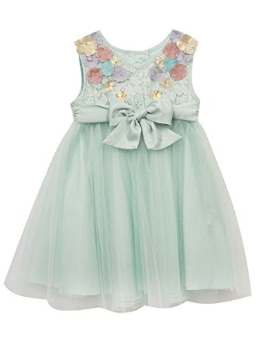 Rare Editions Easter Dress (Rare Editions Girls Mint Sparkle Social Easter Dress (2t-4t) (2t))