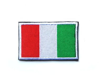 ShowPlus Italy IT Flag Military Embroidered Tactical Patch Morale Shoulder ()