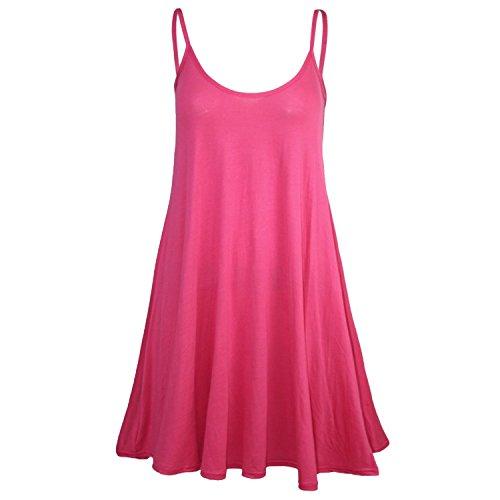 Fast Fashion Fuchsia Swing Plaine De Lanires Femmes Sans Robe Manches rraq7