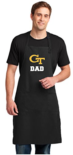 (Broad Bay Georgia Tech Dad Apron Large Size Yellow Jackets Dad Gift for Men or Man Him )