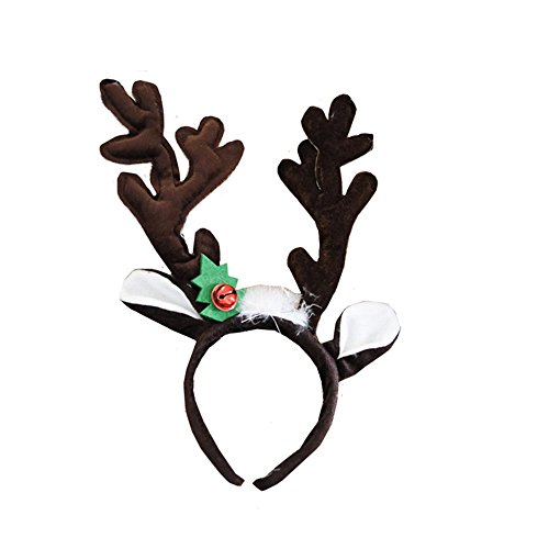 Animals Cute Headband Party Costume Ear Headband Cosplay (Brown - Elk Brown