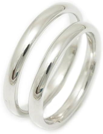 ペアリング 文字入れ付き シルバー 結婚指輪 マリッジリング 2本セット 甲丸