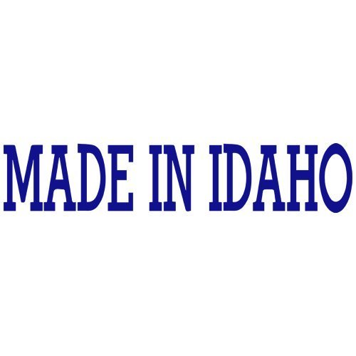 (Set of 3 - Made in Idaho Decal Sticker Color: Blue- Peel and Stick Vinyl Sticker )