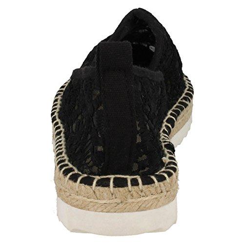 Flat Edge Savannah Rope Ladies Black Espadrilles YxRxUAwq