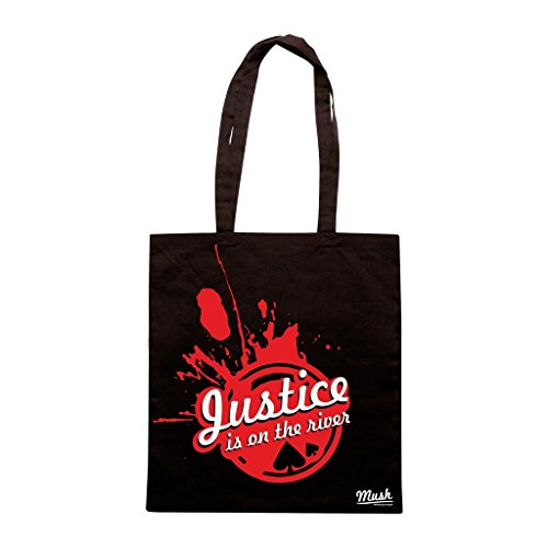 Borsa Justice Is On The River - Nera - Poker by Mush Dress Your Style