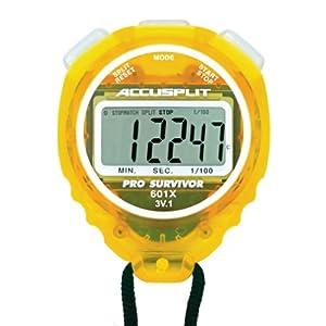 ACCUSPLIT Pro Survivor A601X Stopwatch, Clock, Extra Large Display