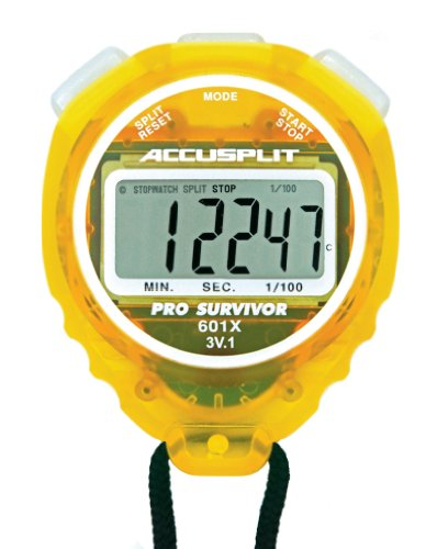 ACCUSPLIT Pro Survivor A601X Stopwatch, Clock, Extra Large Display