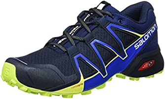 Salomon Speedcross Vario 2, Zapatillas Trail Running Para Hombre, Azul (Navy Blazer/Nautical Blue/Lime Punc), 43 1/3 EU
