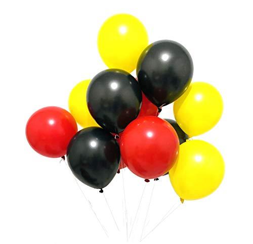 Sorive Latex balloons 100 pcs 3 colors party set (Black Yellow -