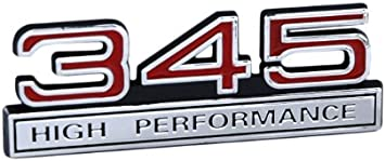 NEW PAIR 345 HIGH PERFORMANCE EMBLEMS RED