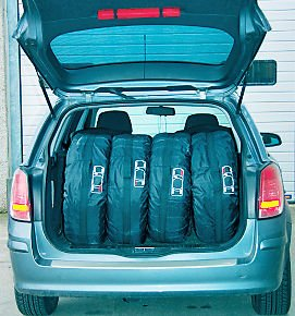 4 X Car Tires Storage Courier Bag Seasonal Protection Holder Cover Accessory Kit by Generic (Image #7)
