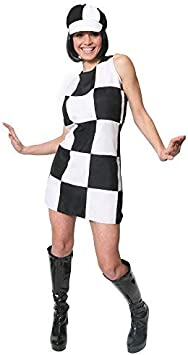 ILOVEFANCYDRESS - Disfraz para Mujer de años 60, con Vestido ...
