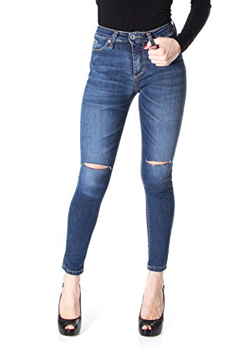 P19 PLEASE JEANS SKINNY SLIM P19IET6T74 STRETCH DCHIR Denim TrwxwU