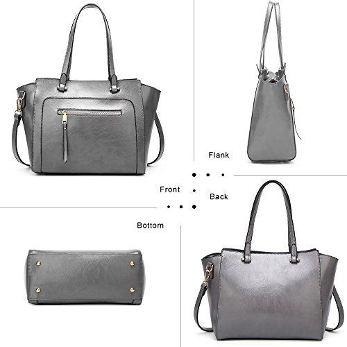 Purse Handbags Handle 111 Bag COCIFER Grey Bag Top Shoulder Women Messenger Top Satchel Tote wqwWIEa8