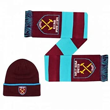 ce36f7c2fbf West Ham United Winter Warmers Hat   Scarf Set  Amazon.co.uk  Sports    Outdoors