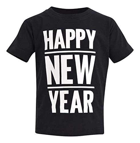 Unique Baby Boys Happy New Year 2019 Party Shirt (2t, Black)