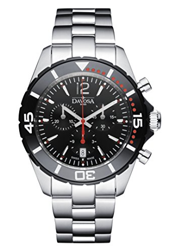 Davosa Swiss Nautic Star Chronograph 16347365 Quartz Analog Men's Wrist Watch ()