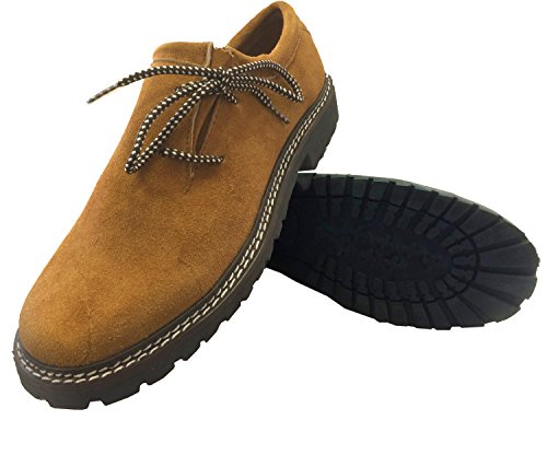 Trachten Schuhe Haferlschuhe Brown Almhaferl Oktoberfest Trachtenschuhe Aus Wildleder Brown (46)