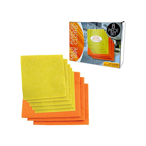 """Multi-Purpose Wipe Cloths - 8 Piece Set Includes (3) 19""""x 23"""" and (5) 15"""" x 15"""""""