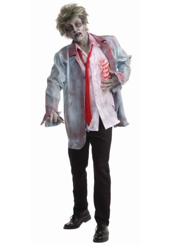 Men's Zombie Man Costume, Multi-Colored, One Size (Scary Halloween Costume Ideas For Groups)