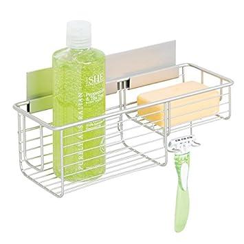 Duschzubehör mdesign duschkorb selbstklebend praktische duschablage ohne