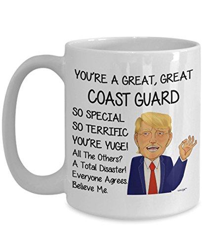 Guard Coast Mug (Coast Guard Coffee Mug - Funny Gifts For Men Women Office Co-worker - Birthday, Christmas, Gag Tea Cup By Whizk MTR114)