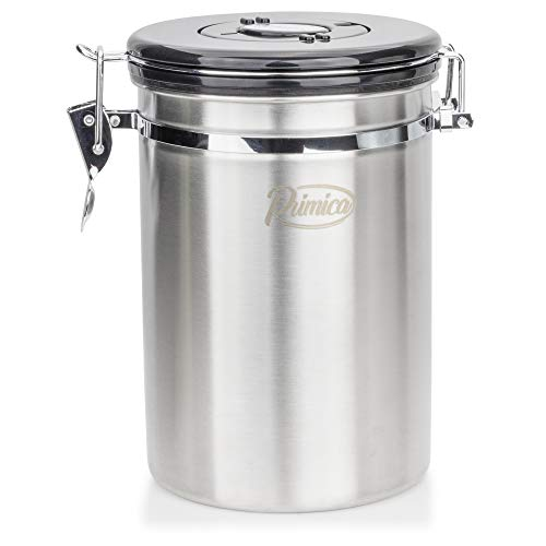 Primica Stainless Steel Coffee Canister - Premium Coffee Container Airtight Storage with Scoop for Easy Portioning by Primica (Image #5)