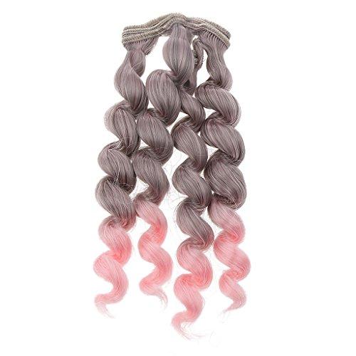 15x100cm DIY Poupée Perruque Bouclés Cheveux Postiches pr 1/3 1/4 1/6 Barbie BJD SD Dolls Décor - #11