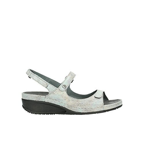 caviar mintgreen 00425 comodidad leather print Wolky nbsp;Shallow 60790 nISURRxX